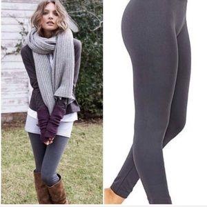 Fleece Lined Leggings   Charcoal